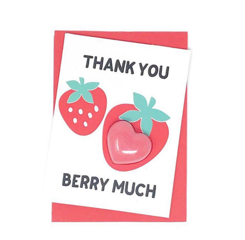 Thank You Berry Much Fizzy Bath Bomb Greeting CARD