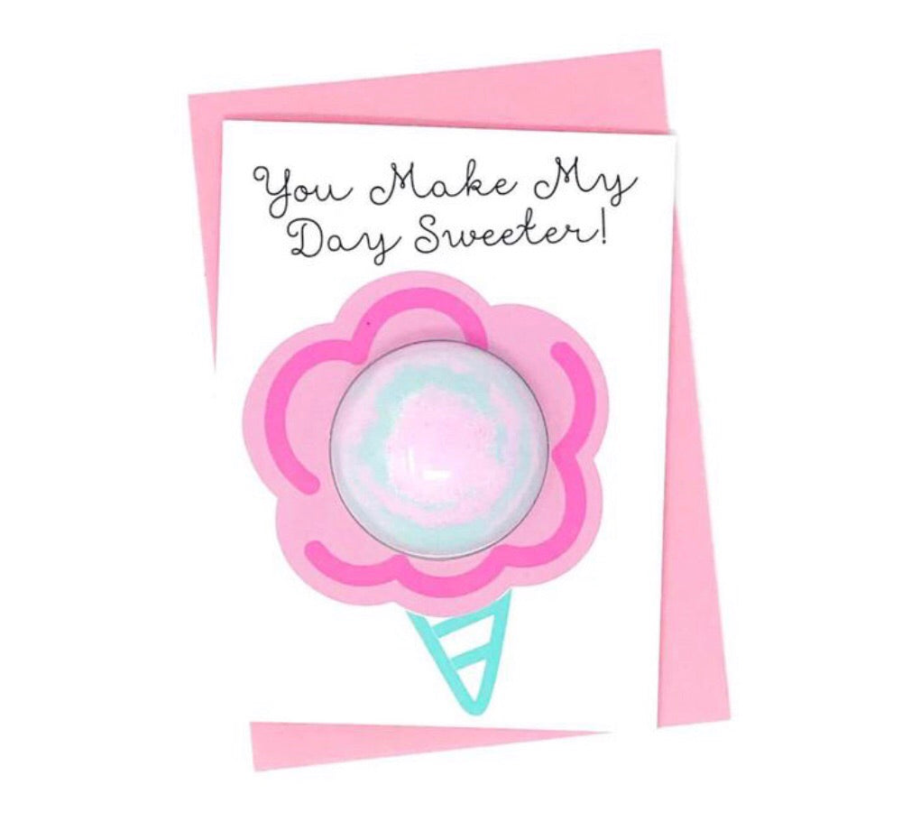 My Day Sweeter Fizzy Bath Bomb Greeting CARD