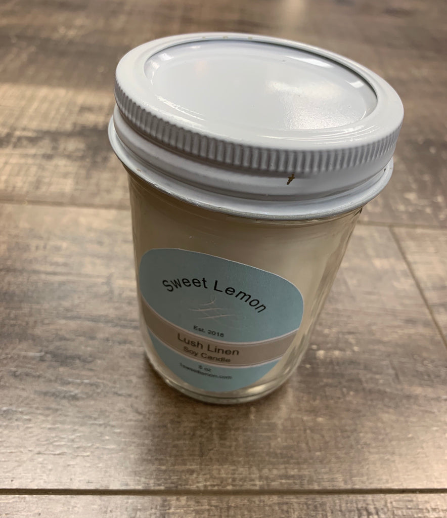 Sweet Lemon 100% Soy Candles; 8 Ounce
