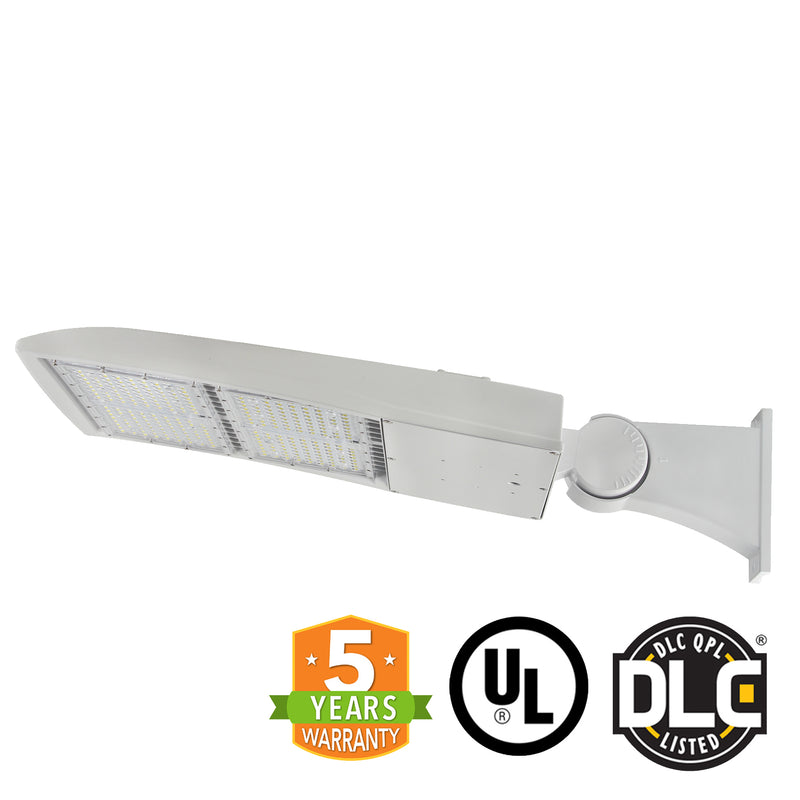 LED Street Light - 200W - Outdoor LED Direct Mount - White - DLC Listed - 5 Year Warranty - 5700K - Green Light Depot