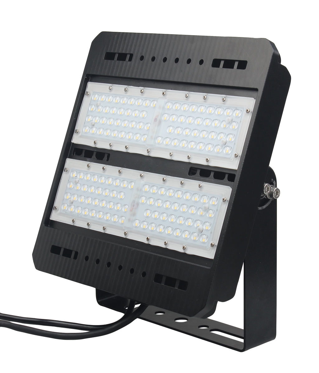 LED Flood Light - 100W - S Series - (UL+DLC) - 5 Year Warranty - Flood Mount - Black - Green Light Depot