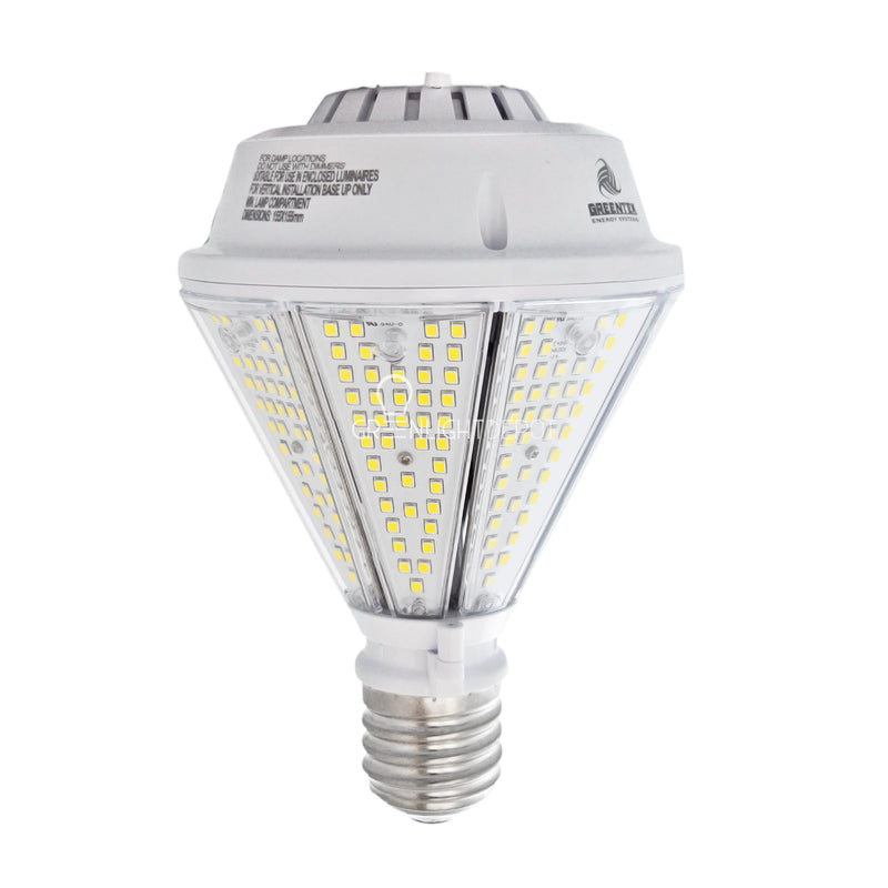 80W LED Corn Bulb Post Top - Bottom Socket - Mogul Base (E39) - (UL+DLC)