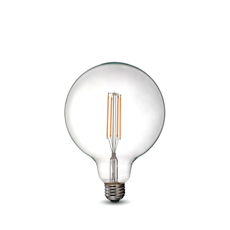 LED Filament Bulb - G40 - 60 Watt Equivalent - E26 - Dimmable - 10 Pack - Green Light Depot