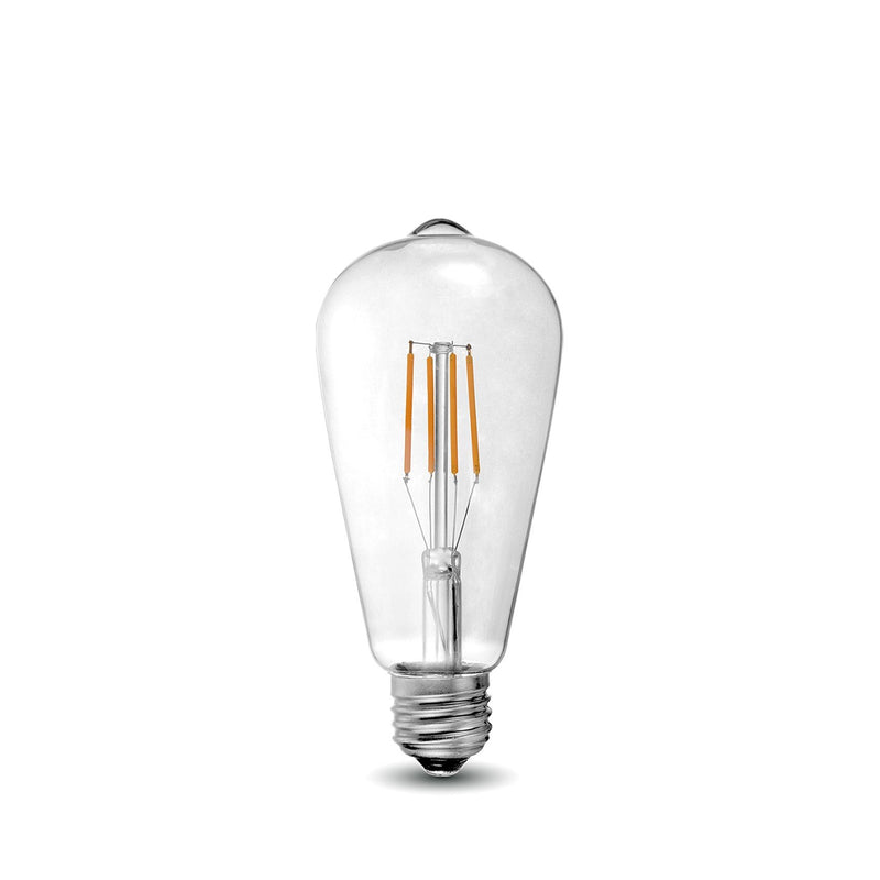 LED Filament Bulb - ST21 - 60 Watt Equivalent - E26 - Dimmable - 10 Pack - Green Light Depot