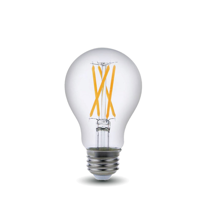 LED Filament Bulb - A19 - 60 Watt Equivalent - E26 - Dimmable - 10 Pack - Green Light Depot