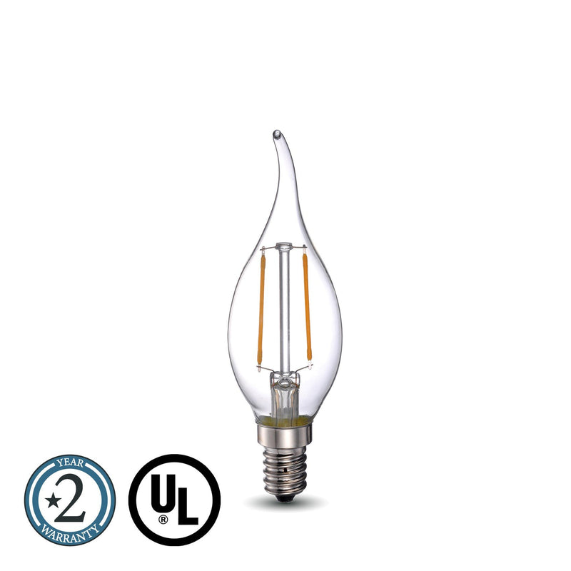 40 Watt Equivalent LED Amber Light Bulb E12 Dimmable BA11 - Green Light Depot