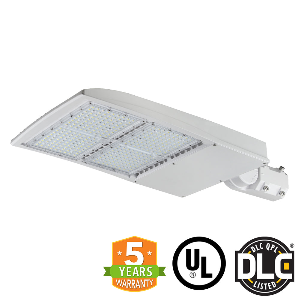 LED Street Light - 200W - Outdoor LED Slip Fitter Mount - White - DLC Listed - 5 Year Warranty - 5700K - Green Light Depot