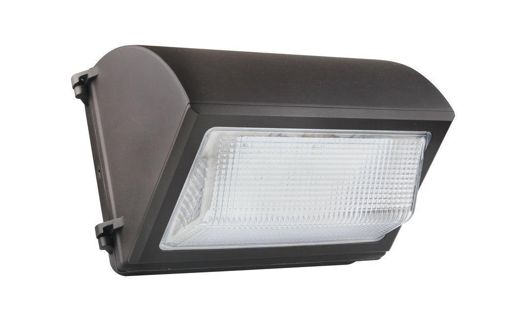 120W LED Wall Pack Light - Semi Cutoff - High Voltage -  Glass - Forward Throw - DLC Listed