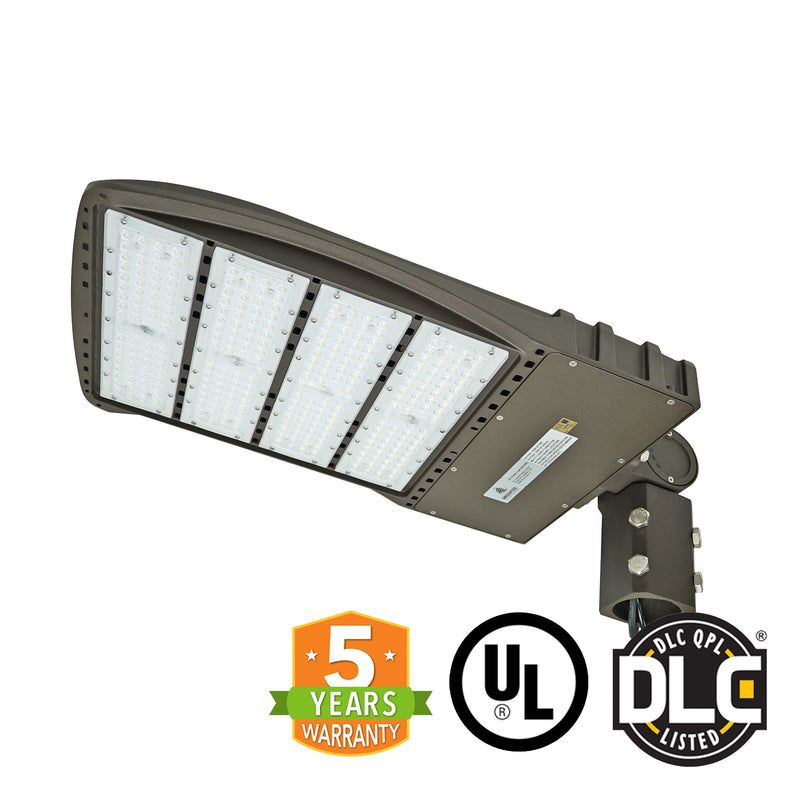 LED Street Light - 240W - Outdoor LED Luminaire Slip Fitter Mount - DLC Listed - 5 Year Warranty - With Shorting Cap - Green Light Depot