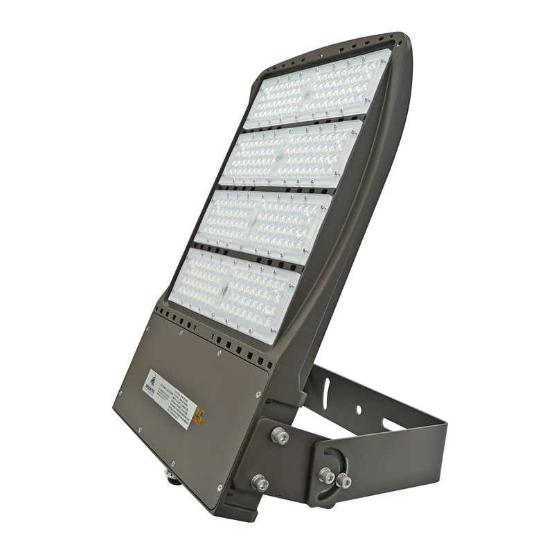 LED Flood Light - 240W - Outdoor LED Luminaire Flood Mount - DLC Listed - 5 Year Warranty - 5700K - With Photocell Capability - BROWN