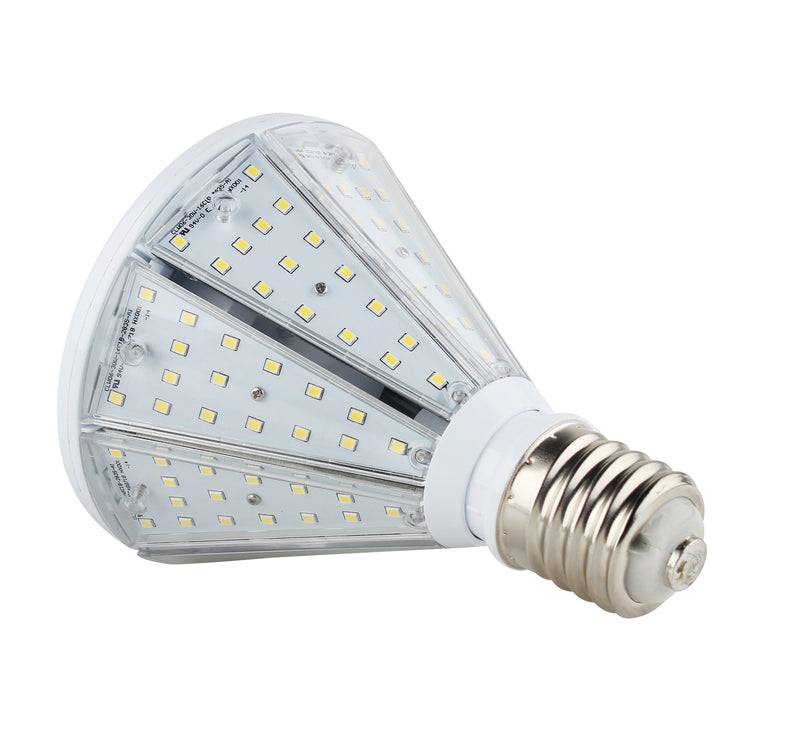 30W LED Corn Bulb Post Top - Bottom Socket - Mogul Base (E39) - (UL+DLC) - Green Light Depot