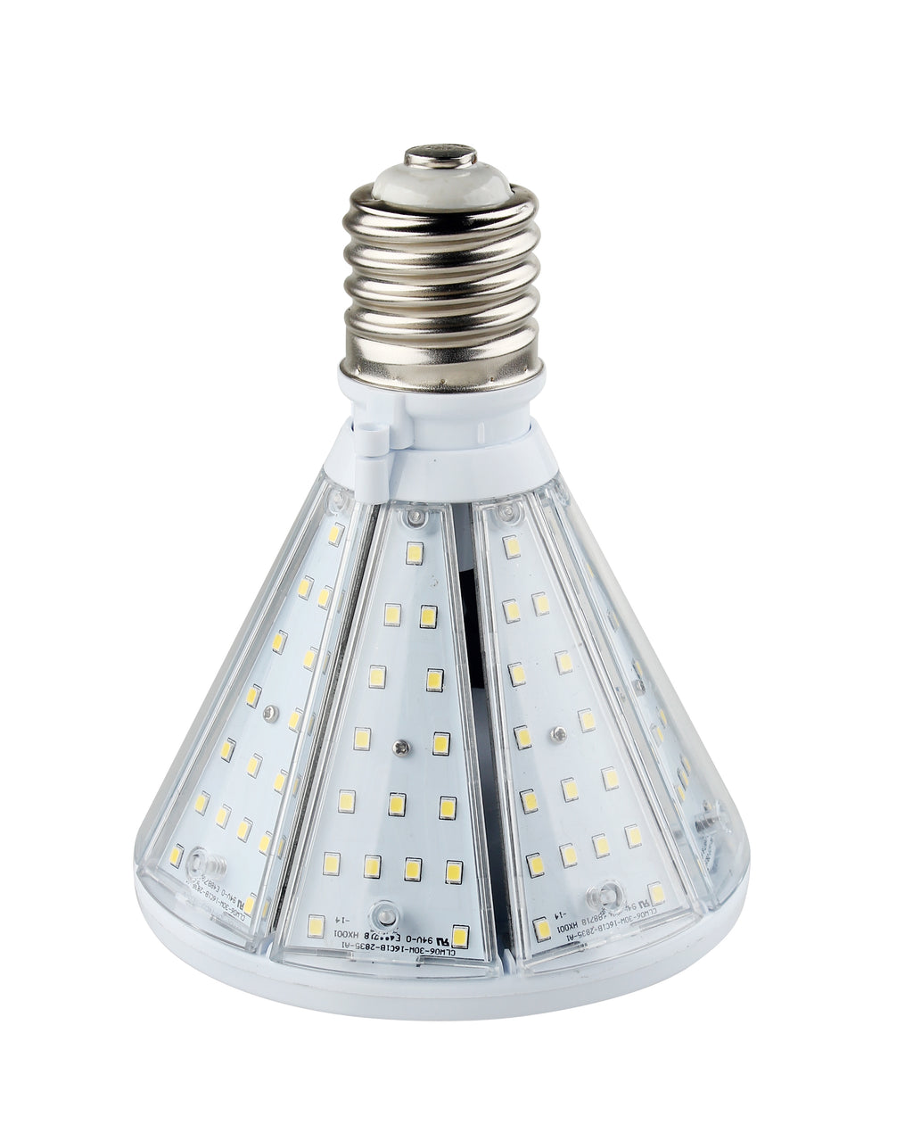 50W LED Corn Bulb Post Top - Bottom Socket - Mogul Base (E39) - (UL+DLC) - Green Light Depot