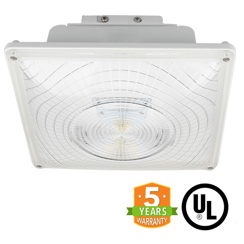 LED Canopy Light - 35W Outdoor Parking Garage Light - (UL+DLC Listed)