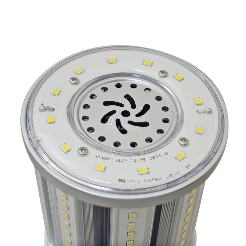36W LED Corn Light Bulb - Replacement for Fixture 200W MH/ HPS/ HID - 5 Year Warranty - 4kV Surge Protection - (UL+DLC)