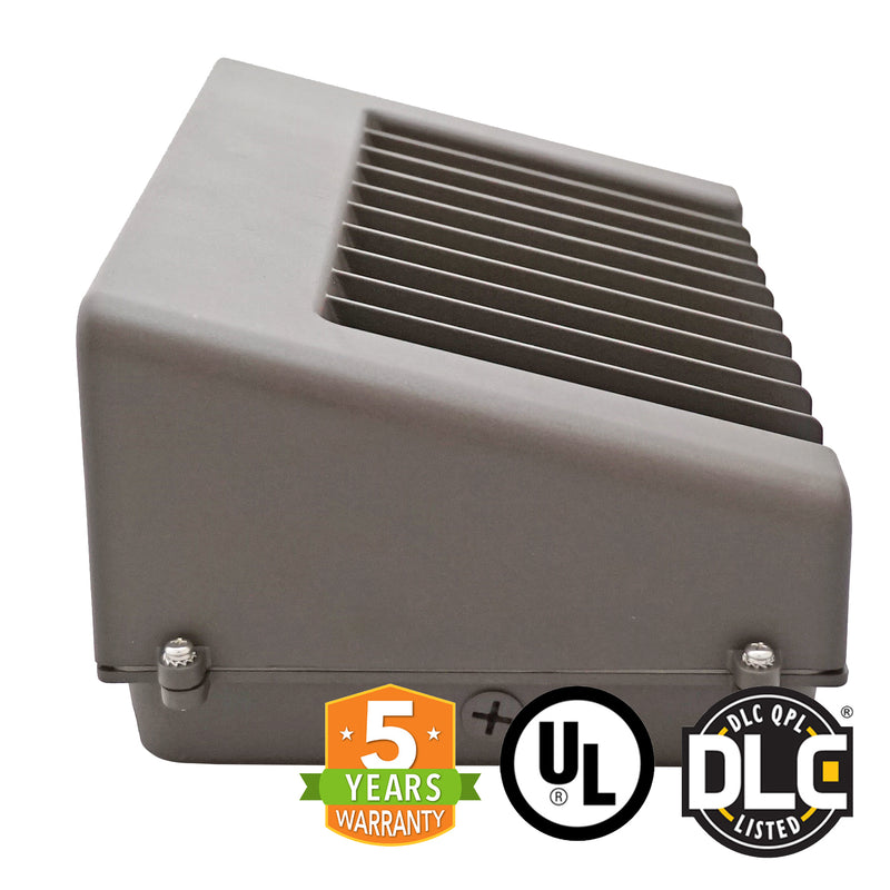 60W LED Wall Pack Light - Full Cutoff - Dark Sky - DLC Listed - Green Light Depot