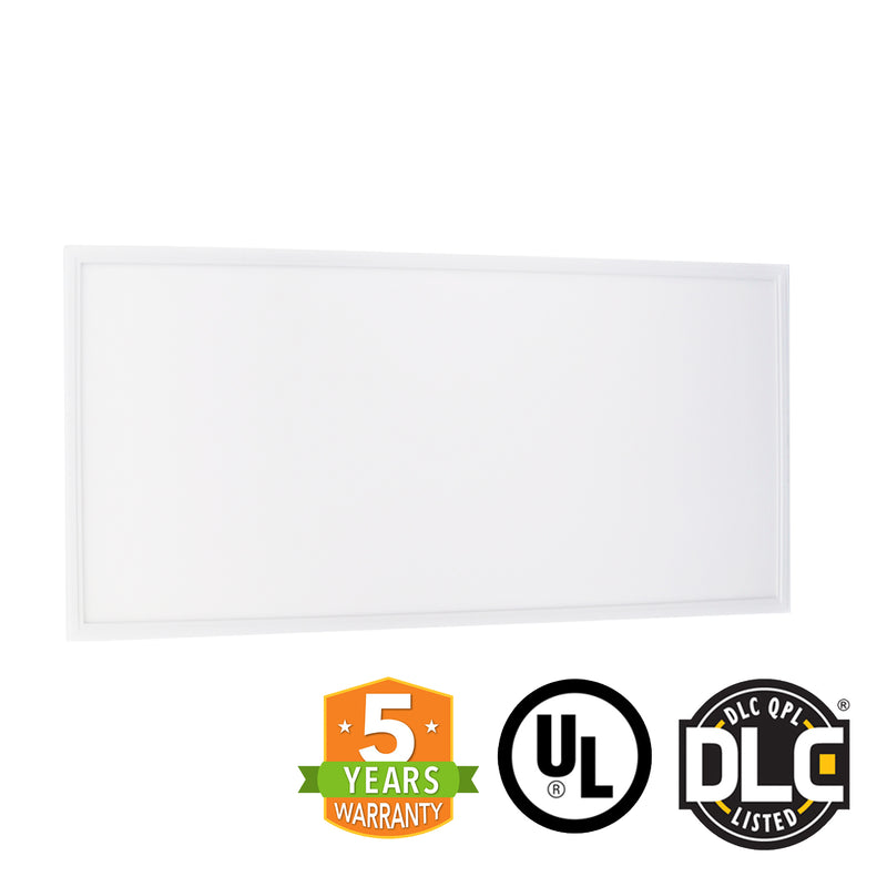 2' x 4' 50W LED Panel Light - (DLC+UL) - 125Lm/w - Dimmable - Premium DLC - *Buy By The Box Promo*