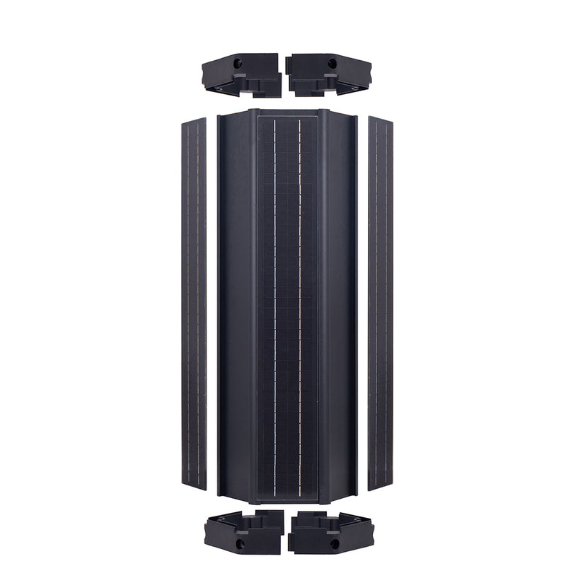 Solar Cylindrical Panel PLUS 20W LED fixture