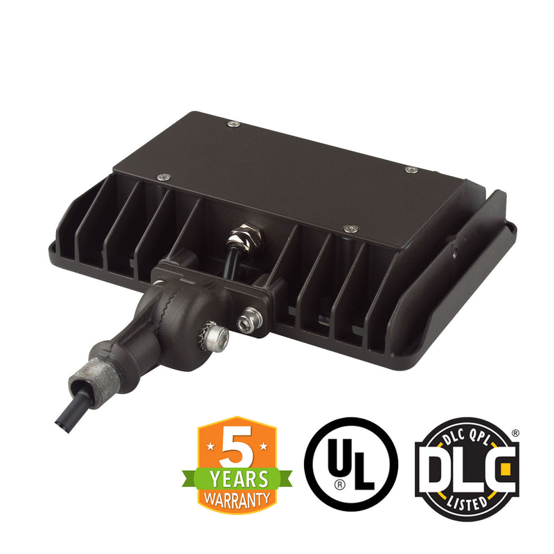 LED Flood Light - Knuckle Mount - 50W - (UL+DLC) - 5 Year Warranty - Green Light Depot