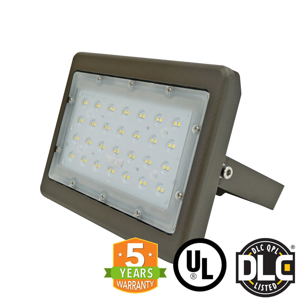 LED Flood Light - 50W - (UL+DLC) - 5 Year Warranty - Green Light Depot