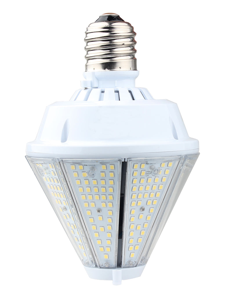 80W LED Corn Bulb Post Top - Top Socket - Mogul Base (E39) - (UL+DLC) - Green Light Depot