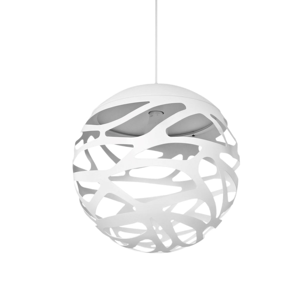 Pendant Light White Open Chaos Globe