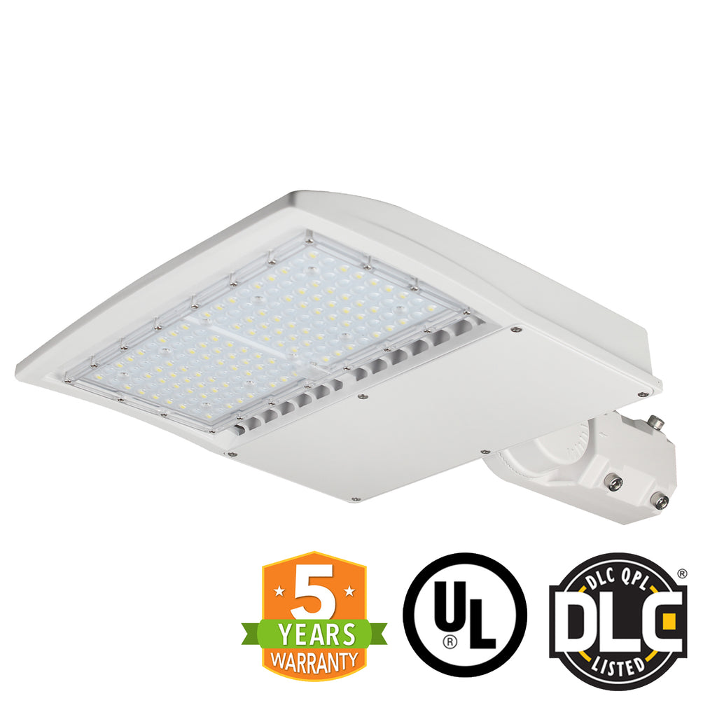 LED Street Light - 150W - Outdoor LED Slip Fitter Mount - White - DLC Listed - 5 Year Warranty - 5700K - Green Light Depot