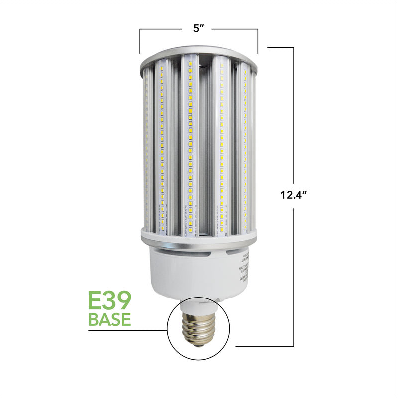 125W LED Corn Light Bulb - Replacement for Fixture 400W MH/ HPS/ HID - 5 Year Warranty - 6kV Surge Protection - (UL+DLC)