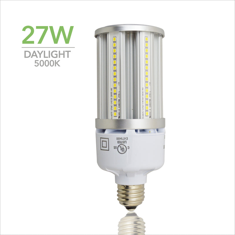 27W LED Corn Light Bulb - Replacement for Fixture 150W MH/ HPS/ HID - 5 Year Warranty - 4kV Surge Protection - (UL+DLC)