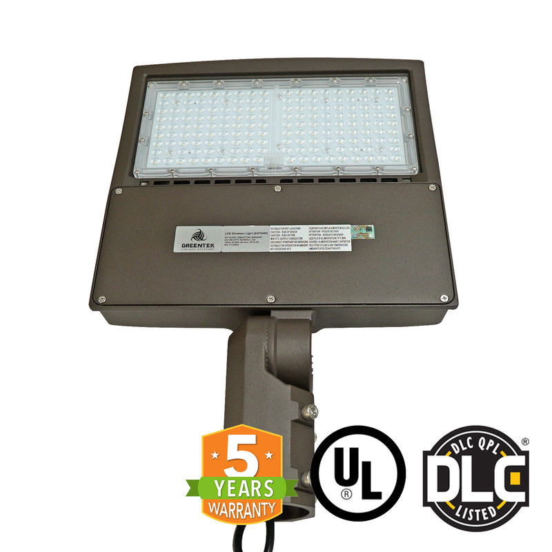 LED Street Light - 150W - Outdoor LED Slip Fitter Mount - DLC Listed - 5 Year Warranty - Green Light Depot