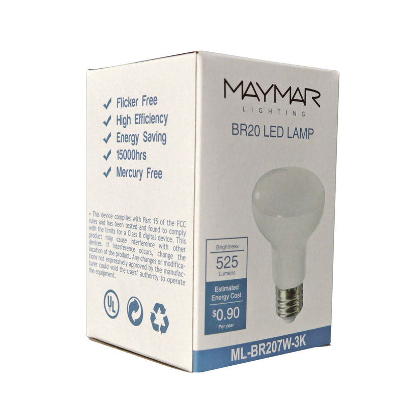 LED BR20 - 7W - 525lm - Dimmable - UL+ES