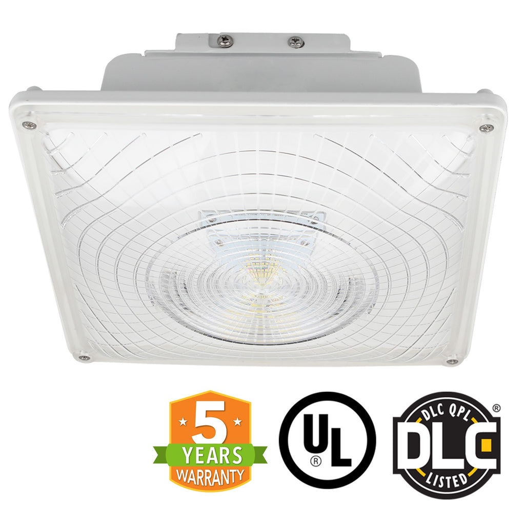 LED Canopy Light - 55W Outdoor Parking Garage Light - (UL+DLC Listed) - Green Light Depot
