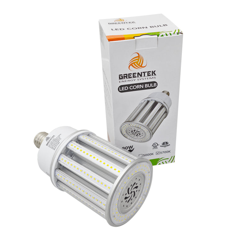 80W LED Corn Light Bulb - Replacement for Fixture 300W MH/ HPS/ HID - 5 Year Warranty - 6kV Surge Protection - (UL+DLC)