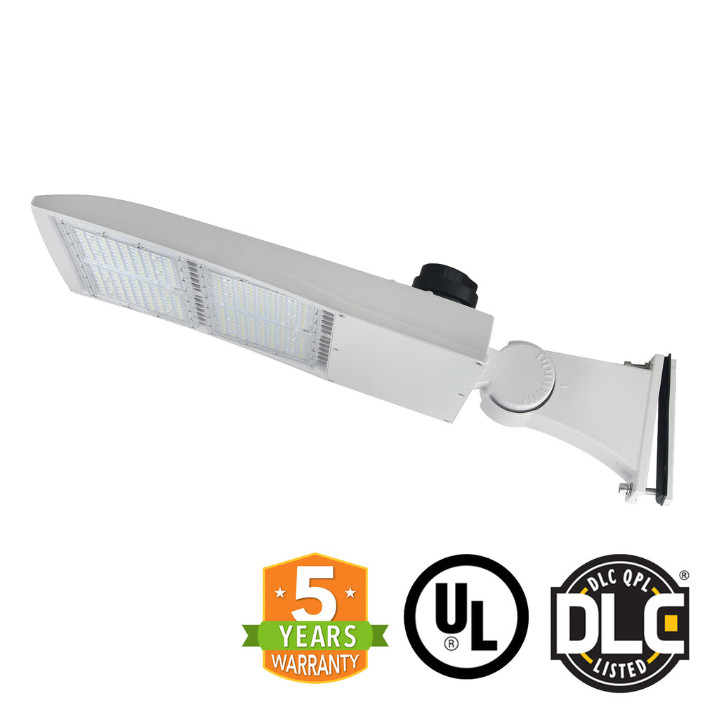 LED Street Light - 300W - Outdoor LED Direct Mount - White - 5 Year Warranty - With Shorting Cap - Green Light Depot