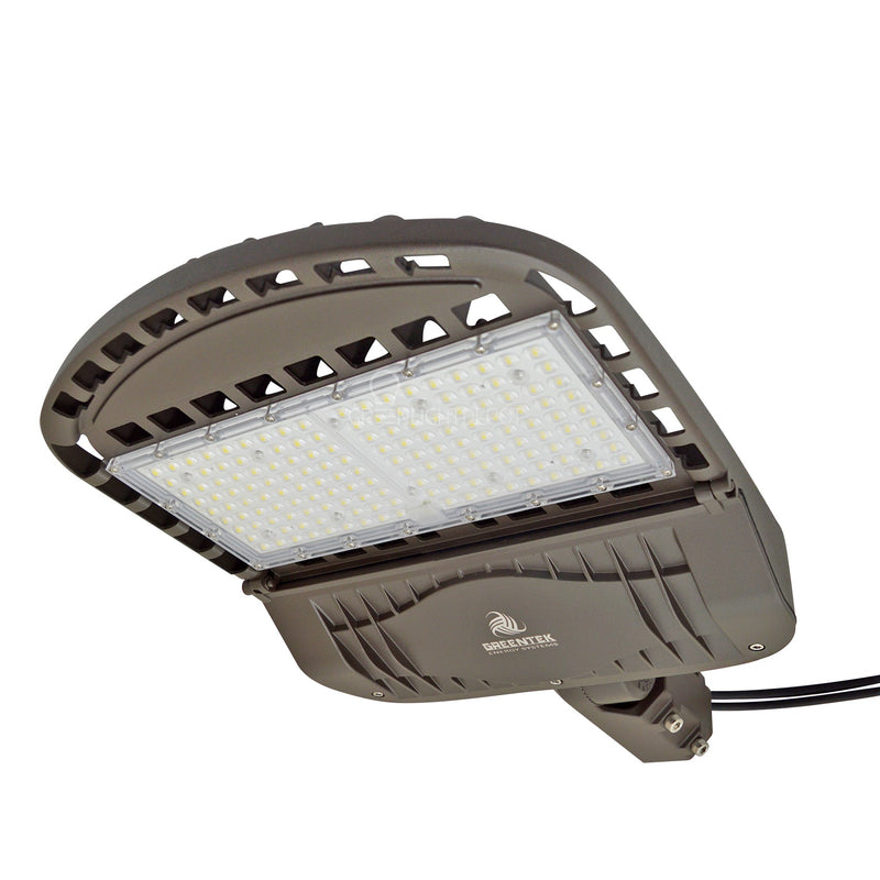 LED Street Light - 150W - 20,000 Lumens - Shoebox Slip Fitter - 5 Year Warranty - (UL+DLC)