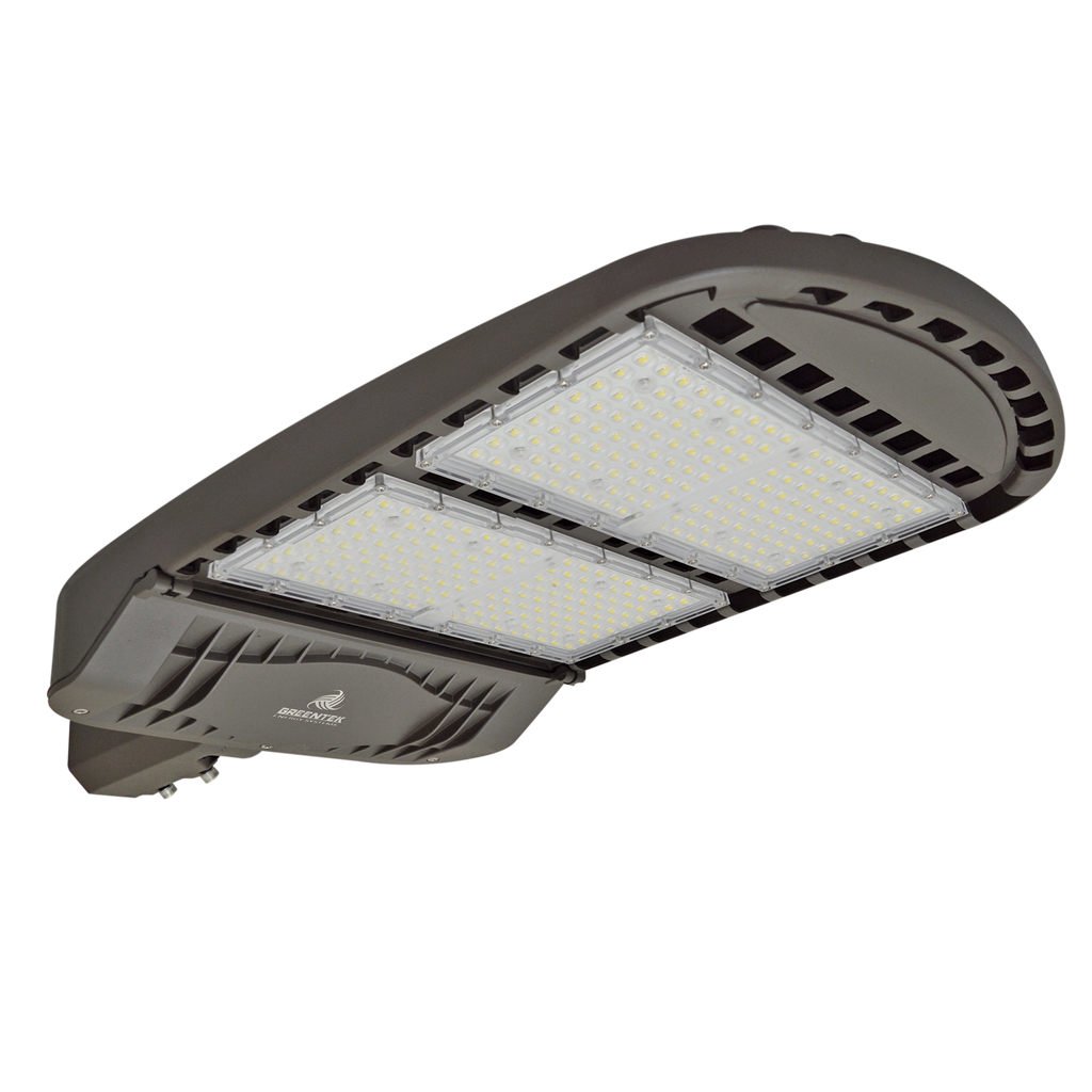 LED Street Light - 300W - 42,000 Lumens - Shoebox Slip Fitter - 5 Year Warranty - (UL+DLC)
