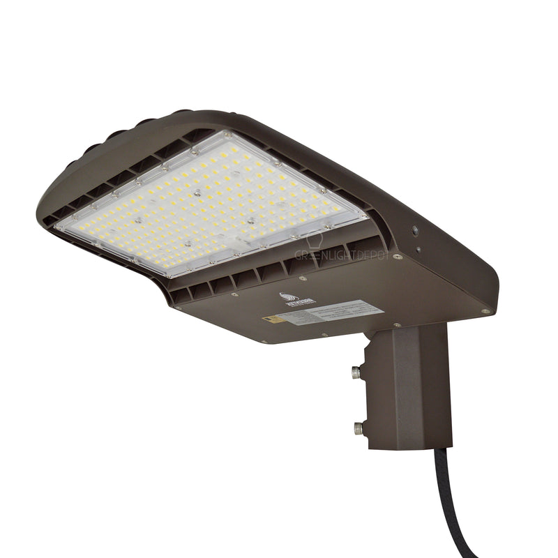 LED DLC Street Light - 150W - High Voltage - 21,000 Lumens - Shorting Cap - Slip Fitter Mount - AL2 Series - UL+DLC