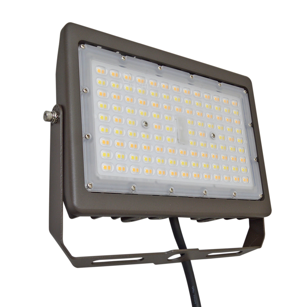 LED Flood Light - 90W - Selectable Color Temperature - 400W HID/HPS Replacement - (UL+DLC) - 5 Year Warranty