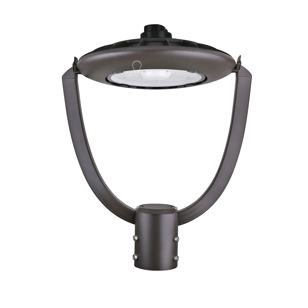 LED Post Top Light - Selectable Color Temperature - 55W - Bronze - Shorting Cap