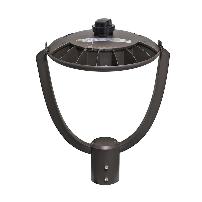 LED Post Top Light - Selectable Color Temperature - 55W - Bronze - Shorting Cap - Landscape Light