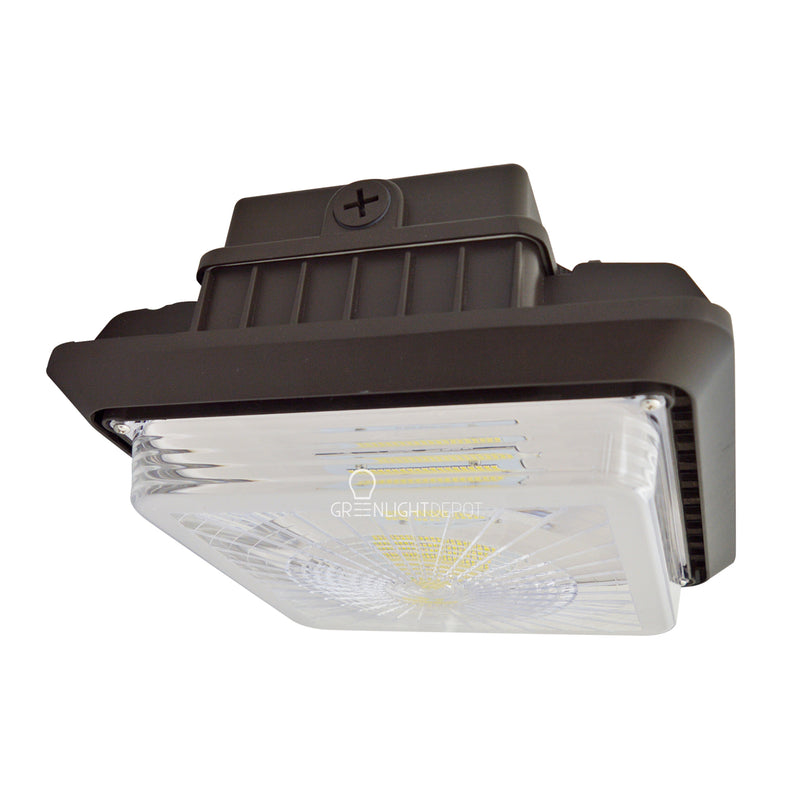 LED Canopy Light - 100W Outdoor Parking Garage Light - (UL+DLC Listed) - Bronze