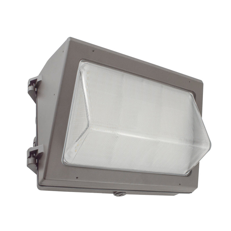 120W LED Wall Pack Light - Photocell Included - Tempered Glass Lens - Forward Throw - DLC Listed