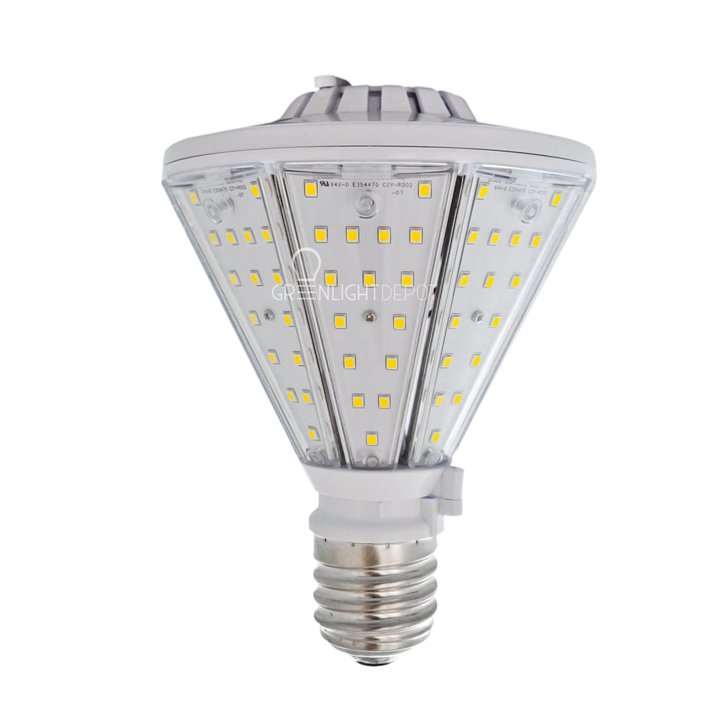30W LED Corn Bulb Post Top - Bottom Socket - Mogul Base (E39) - (UL+DLC)