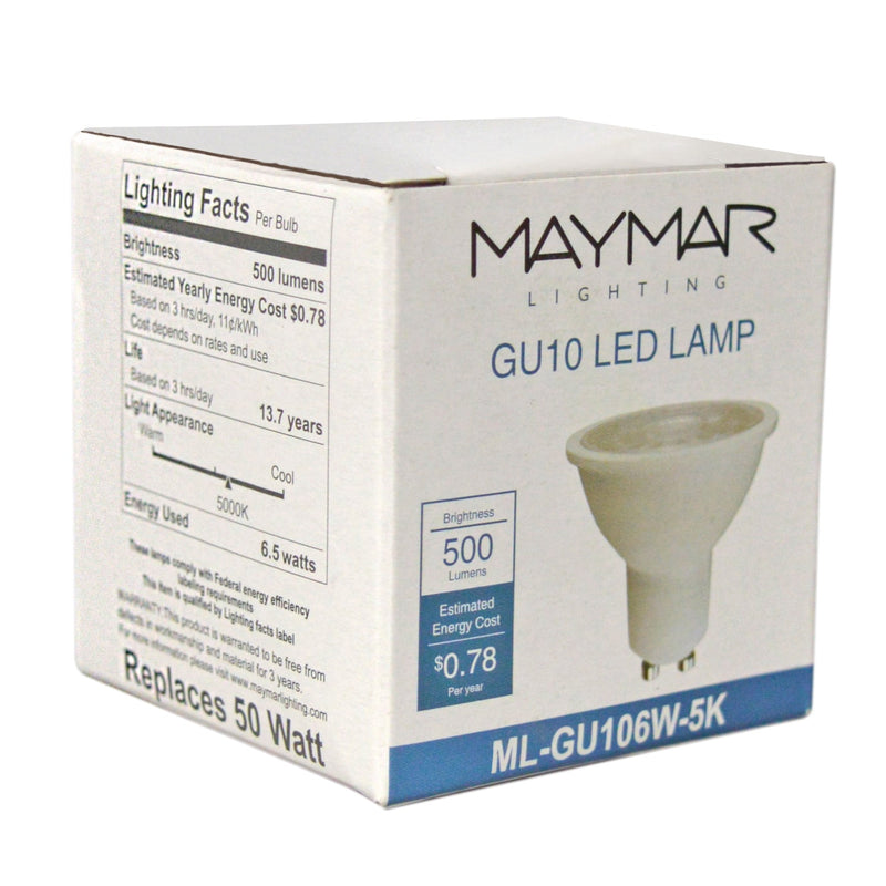 LED GU10 - 6.5W - 500lm - 40° - Dimmable - UL+ES