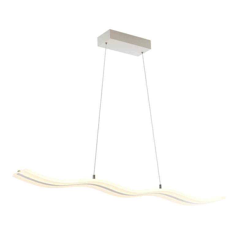 Modern Chandelier LED Light Linear Suspension Wave 30 Watt