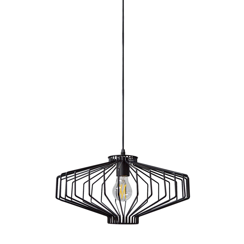 Pendant Light Industrial Caged Iron
