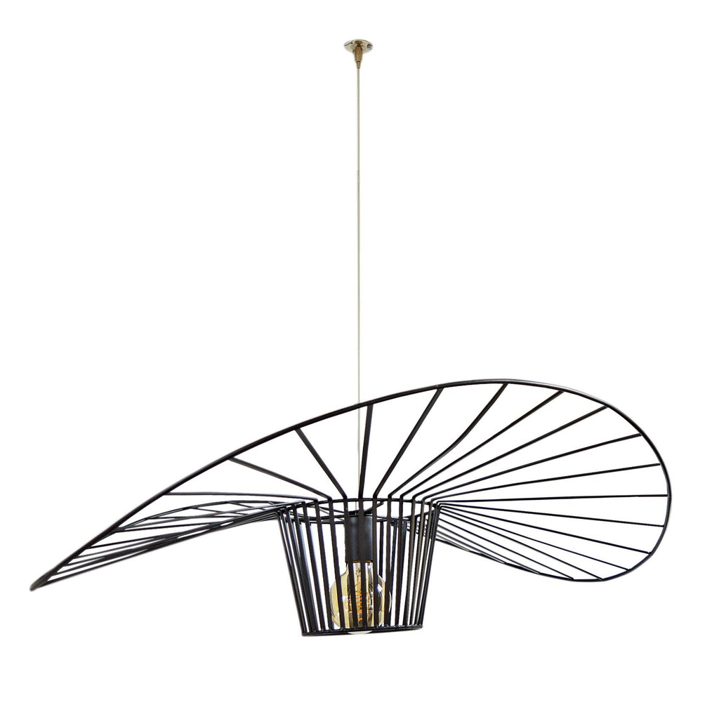MayMar Led Pendant Light Wire Frame Industrial Wing