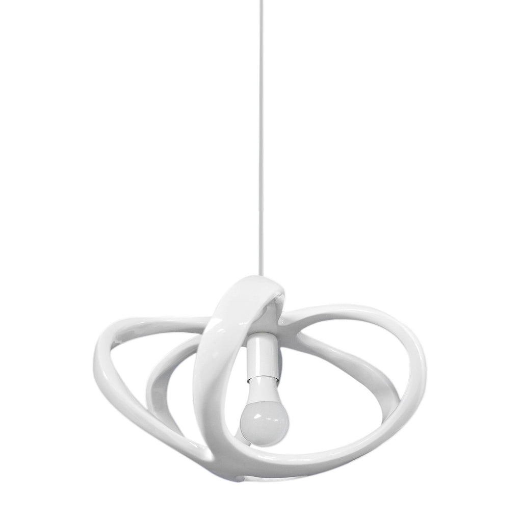 Pendant Light White Open Shade