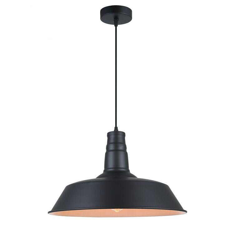 Pendant Light Industrial Iron Matte Black Sleek