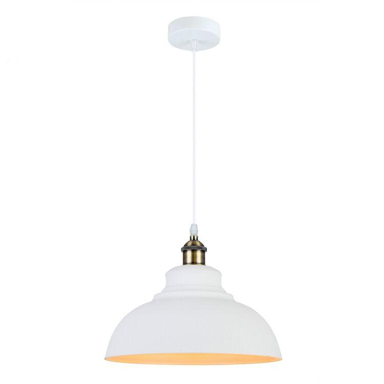 Pendant Light Elegant Iron Brushed White