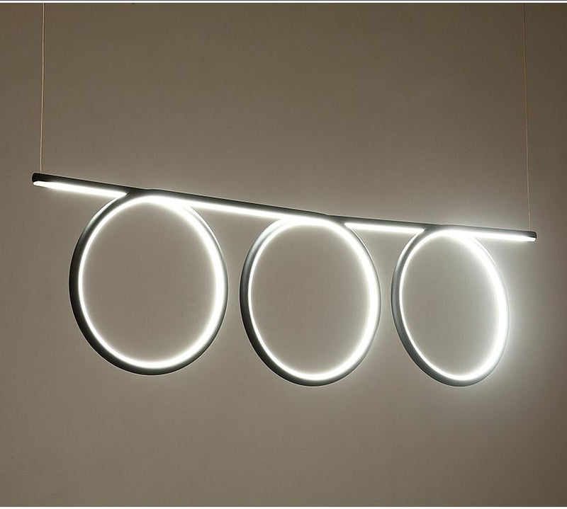 Modern Chandelier Light LED 3 Ring Continuous